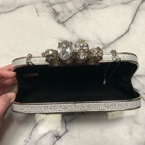 Bags - Silver Knuckle Clutch